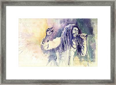 Bob Marley Framed Print by Yuriy  Shevchuk