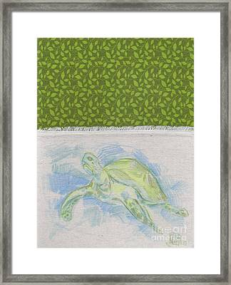 Bob The Sea Turtle Framed Print by Michael Ciccotello