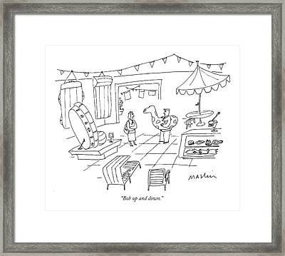 Bob Up And Down Framed Print by Michael Maslin