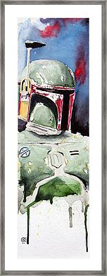 Boba Fett Framed Print by David Kraig