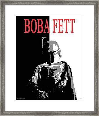 Framed Print featuring the digital art Boba Fett- Gangster by Dale Loos Jr
