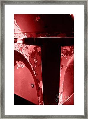Boba Fett Helmet 102 Framed Print by Micah May