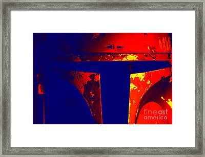 Boba Fett Helmet 11 Framed Print by Micah May