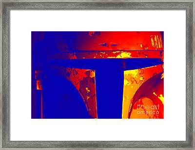 Boba Fett Helmet 14 Framed Print by Micah May