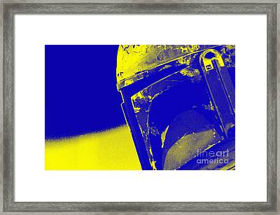 Boba Fett Helmet 20 Framed Print by Micah May