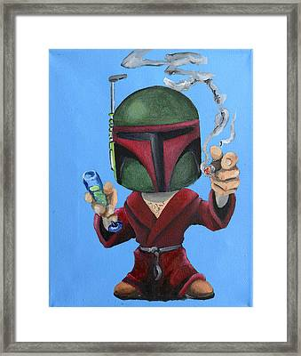 Boba Hef Framed Print by Chris  Leon