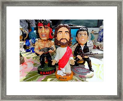Bobblehead Brothers Framed Print by Ed Weidman