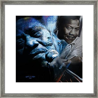 Bobby Blue Bland Framed Print by Lynda Payton