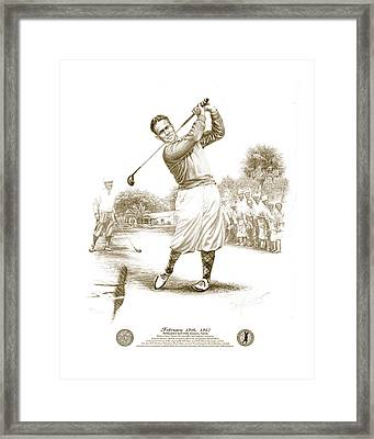 Bobby Jones At Sarasota - Sepia Framed Print by Harry West