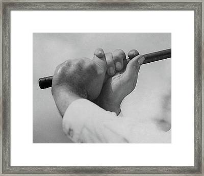 Bobby Jones Holding A Golf Club Framed Print