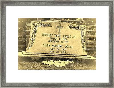 Bobby Jones Framed Print