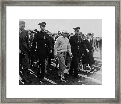 Bobby Jones Walking Being Escorted By Police Framed Print by Artist Unknown