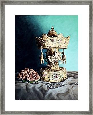 Bobby's Carousel Framed Print by Linda Becker