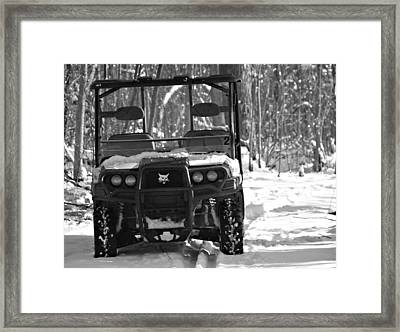 Bobcat Atv In Winter Framed Print