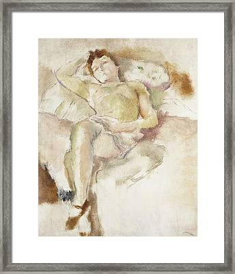 Bobette Lying Down Bobette Allongee Framed Print