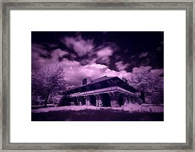 Boblo Roller Rink - Infrared Framed Print by Cale Best