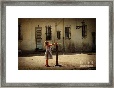 Boboli Bubbler Framed Print