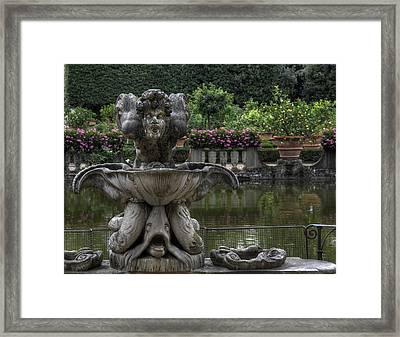 Boboli Fountain Framed Print