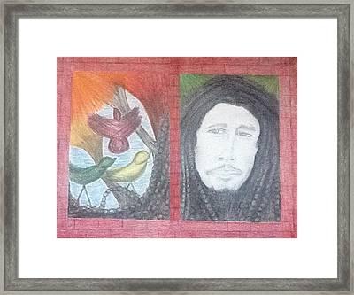 Bob's 3 Little Birds Framed Print by Michele Moore