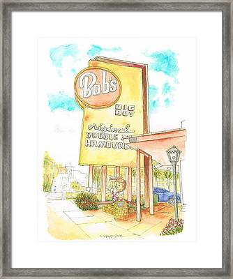 Bob's Big Boy In Burbank, California Framed Print by Carlos G Groppa