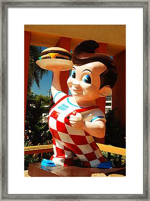 Bob's Big Boy Framed Print by James Kirkikis