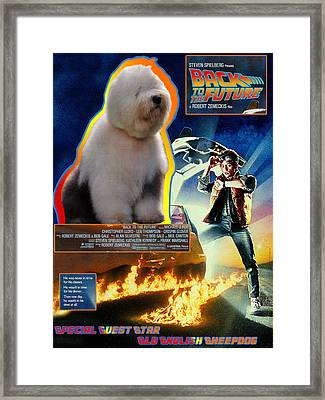Bobtail - Old English Sheepdog Art Canvas Print - Back To The Future Movie Poster Framed Print