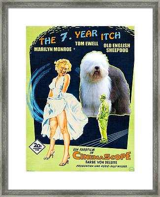 Bobtail -  Old English Sheepdog Art Canvas Print - The Seven Year Itch Movie Poster Framed Print