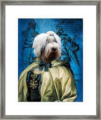 Bobtail - Old English Sheepdog Art Canvas Print Framed Print