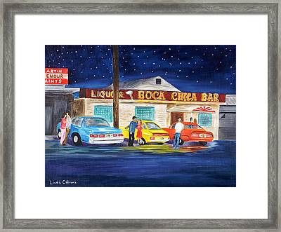 Boca Chica Bar Framed Print by Linda Cabrera