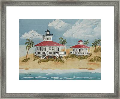 Boca Grande Lighthouse Framed Print by John Edebohls