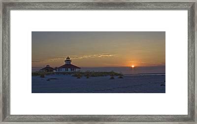 Boca Grande Lighthouse Sunrise Framed Print