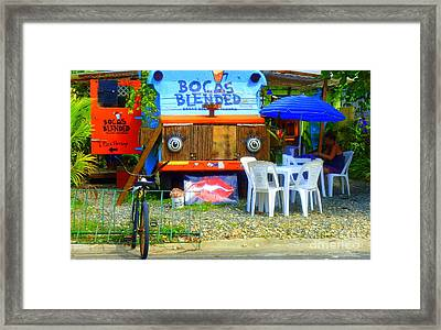 Bocas Blended Framed Print by Kris Hiemstra