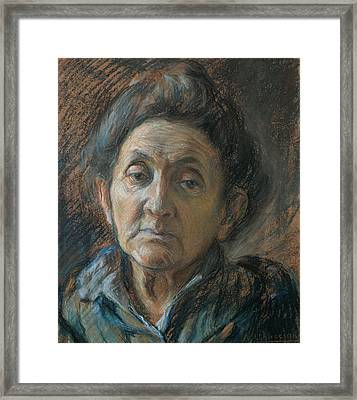Boccioni Umberto, Portrait Of An Old Framed Print by Everett