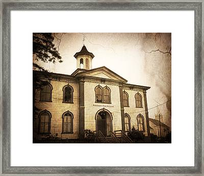 Bodega Bay Schoolhouse Framed Print