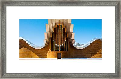 Bodegas Ysios Winery Building, La Framed Print