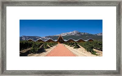Bodegas Ysios Winery Building Framed Print