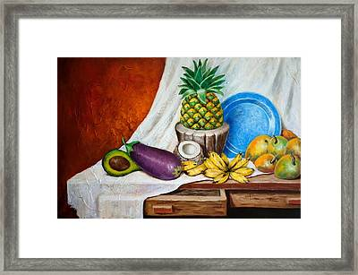 Bodegon Criollo Framed Print