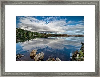Bodgynydd Lake Framed Print
