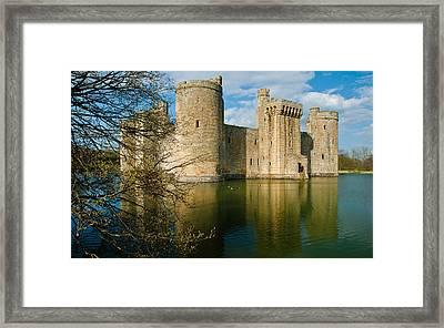 Bodiam Castle Framed Print by David Ross