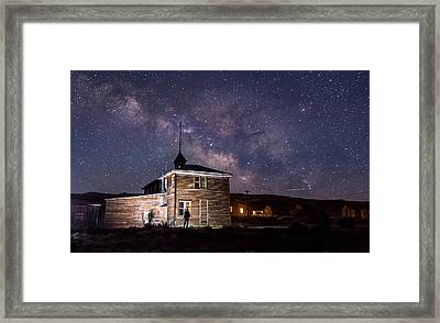 Bodie At Night Framed Print by Cat Connor