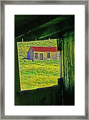 Bodie Ca From My Window Framed Print