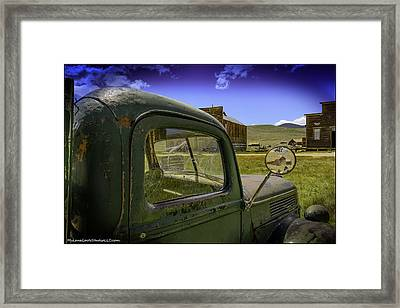 Bodie California Leaving The Dust Behind Framed Print