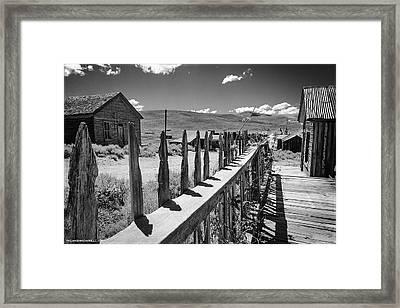 Bodie California Long Dusty Road Framed Print by LeeAnn McLaneGoetz McLaneGoetzStudioLLCcom