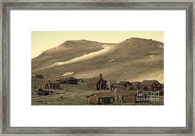 Framed Print featuring the photograph Bodie California by Nick  Boren