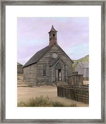 Bodie Church Framed Print by Mel Felix