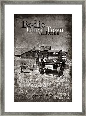 Bodie Ghost Town Black And White Framed Print