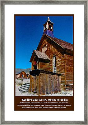 Bodie Ghost Town Church Framed Print