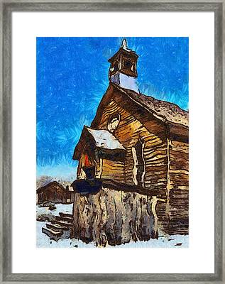 Bodie Ghost Town Methodist Church Framed Print