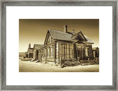 Bodie Ghost Town Framed Print
