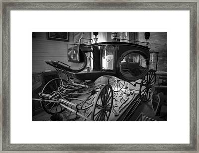 Bodie Hearse Framed Print by Jim Snyder